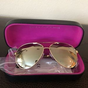 DVF Gold Aviator Sunglasses